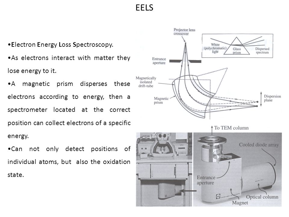 EELS •Electron Energy Loss Spectroscopy.