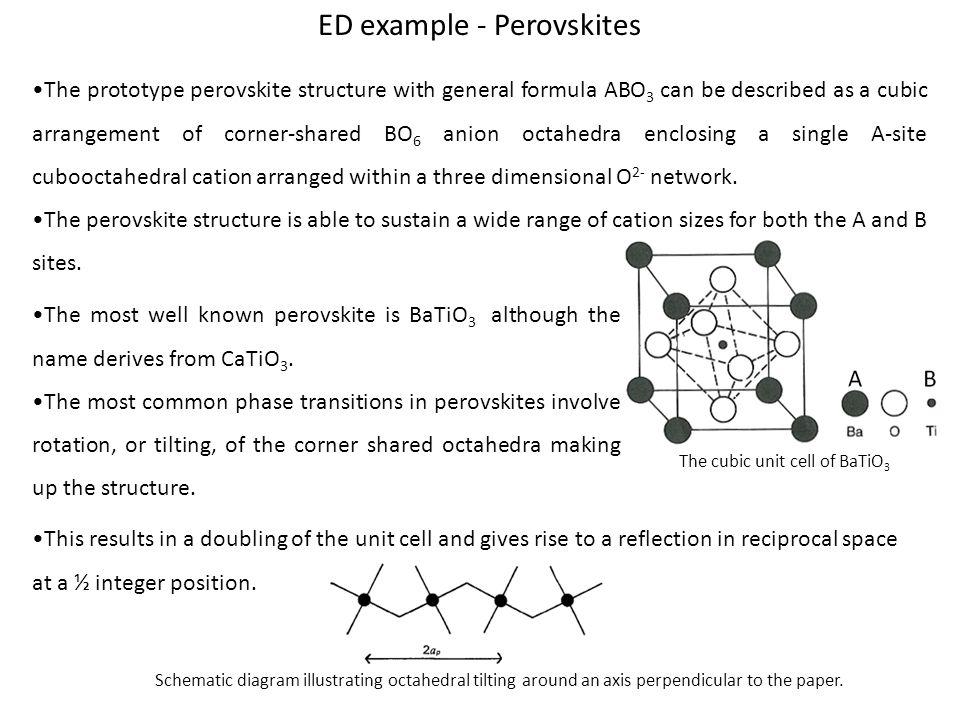 ED example - Perovskites
