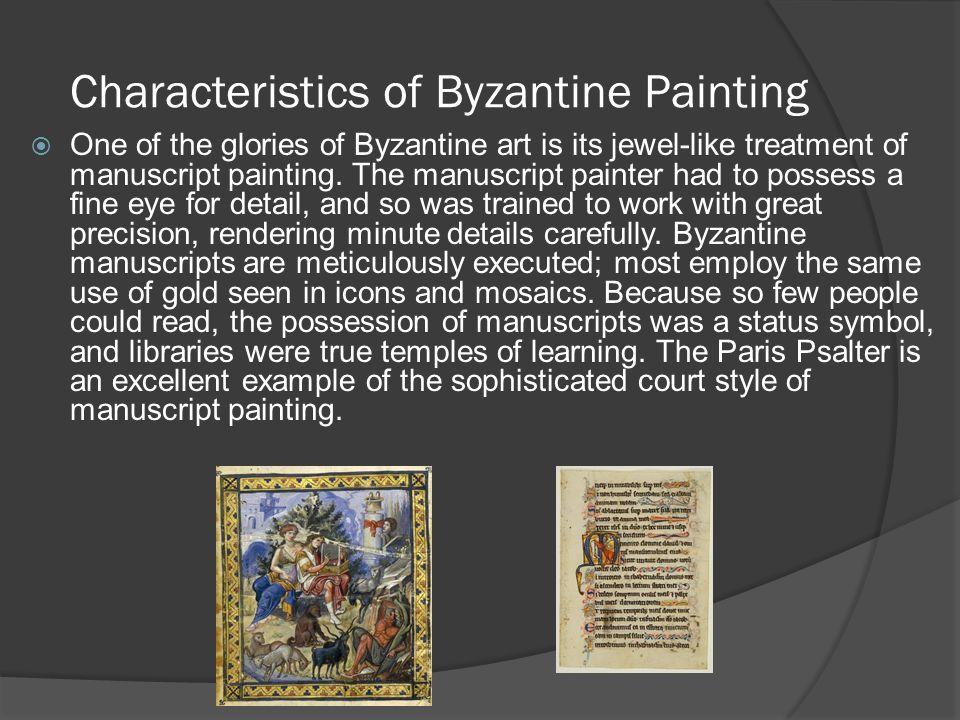 Characteristics of Byzantine Painting