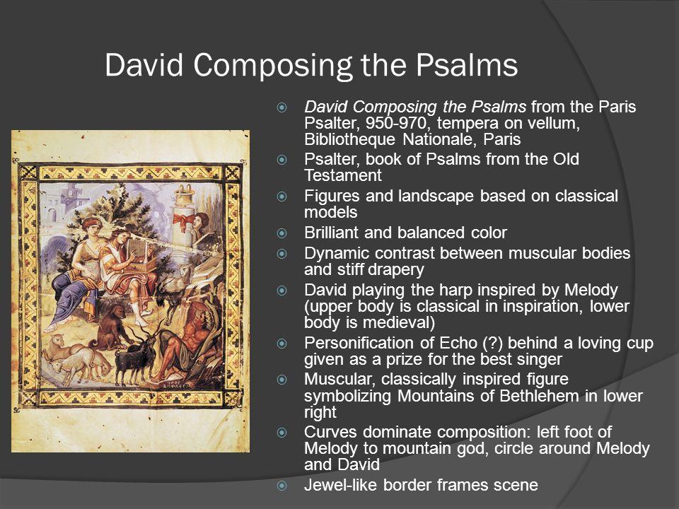 David Composing the Psalms