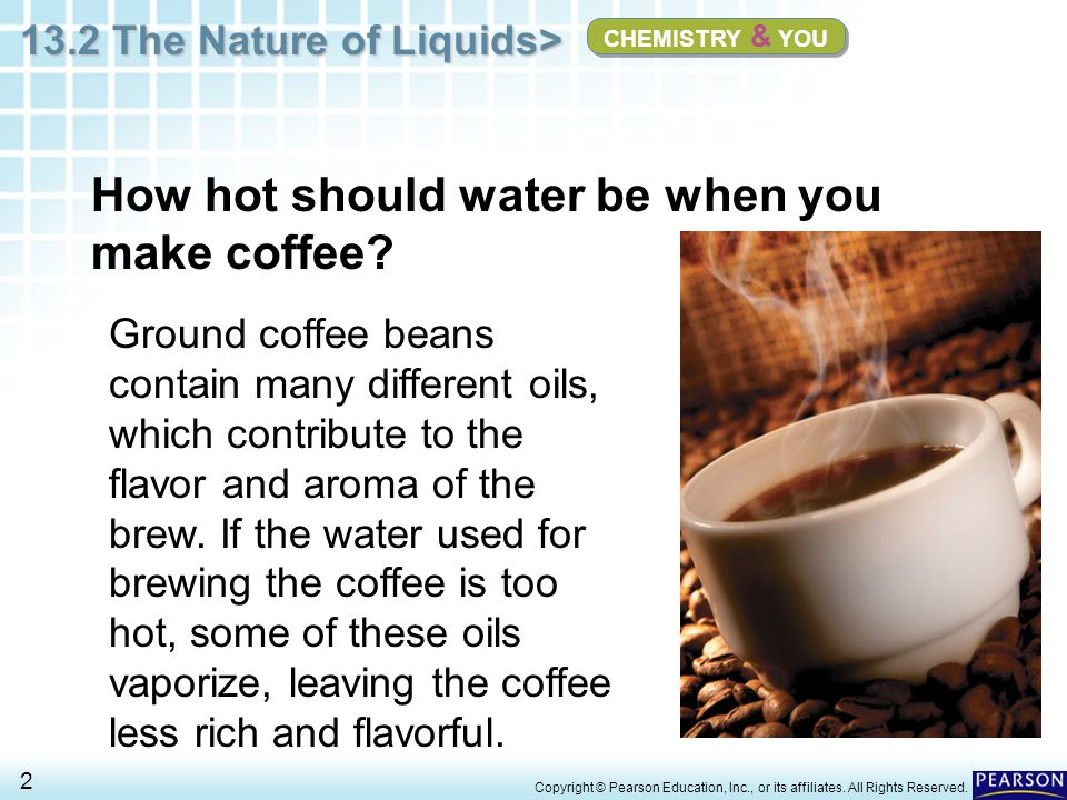 How hot should water be when you make coffee