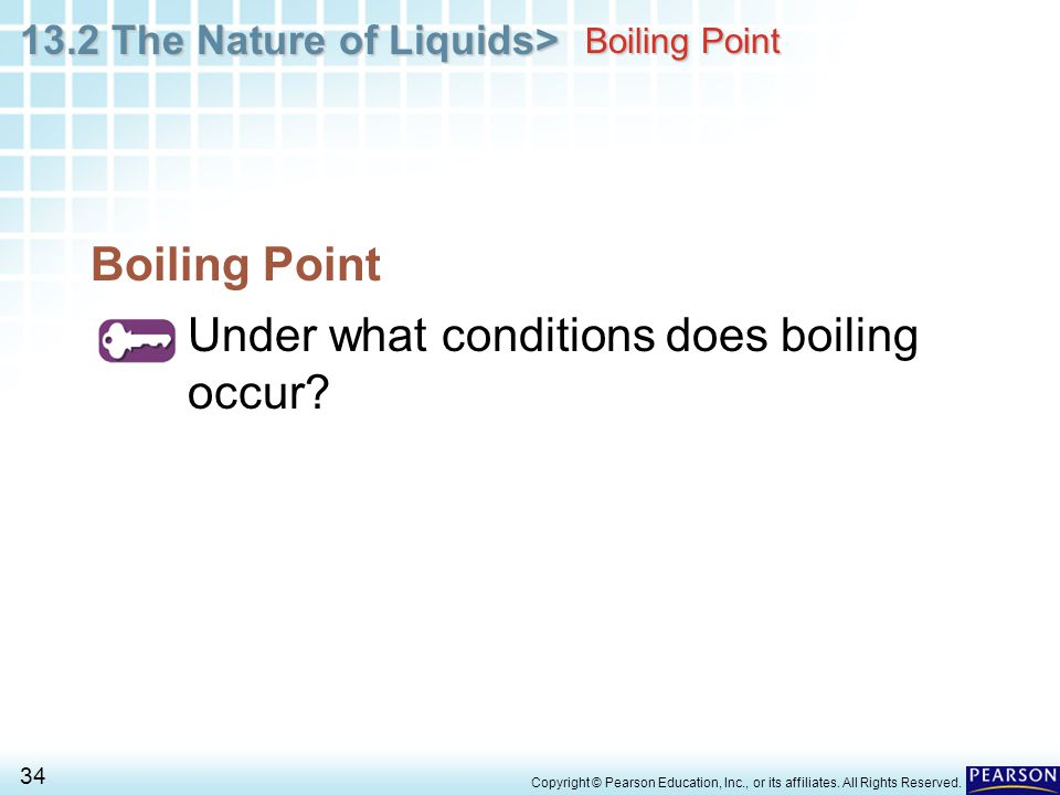Under what conditions does boiling occur