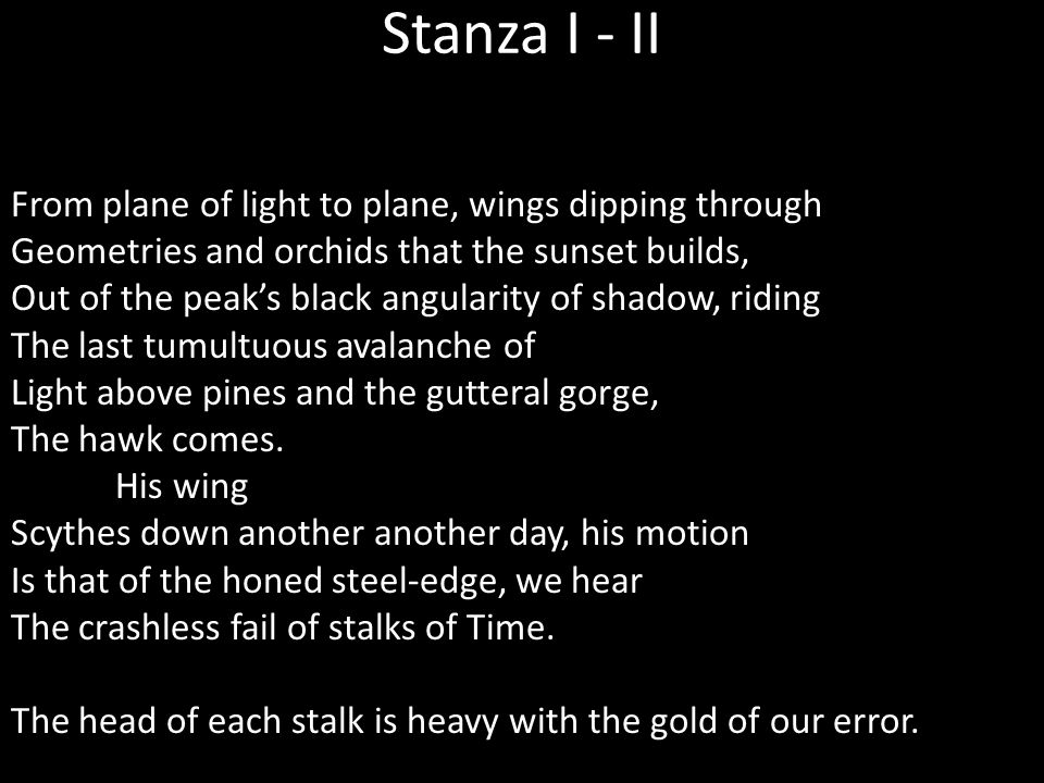 Stanza I - II