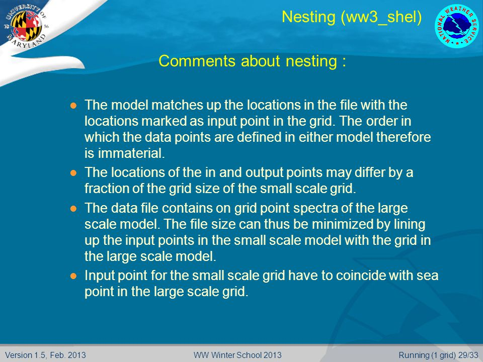 Comments about nesting :