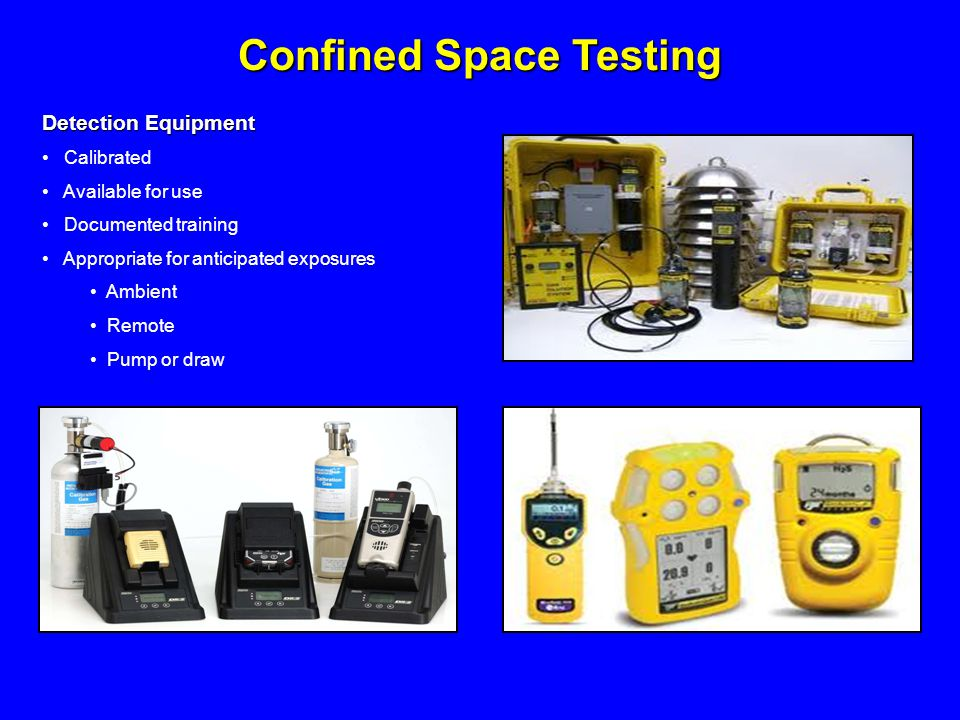 Confined Space Testing
