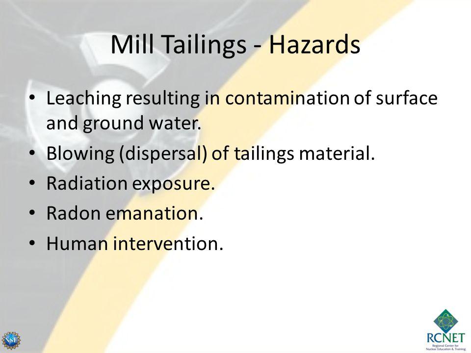 Mill Tailings - Hazards
