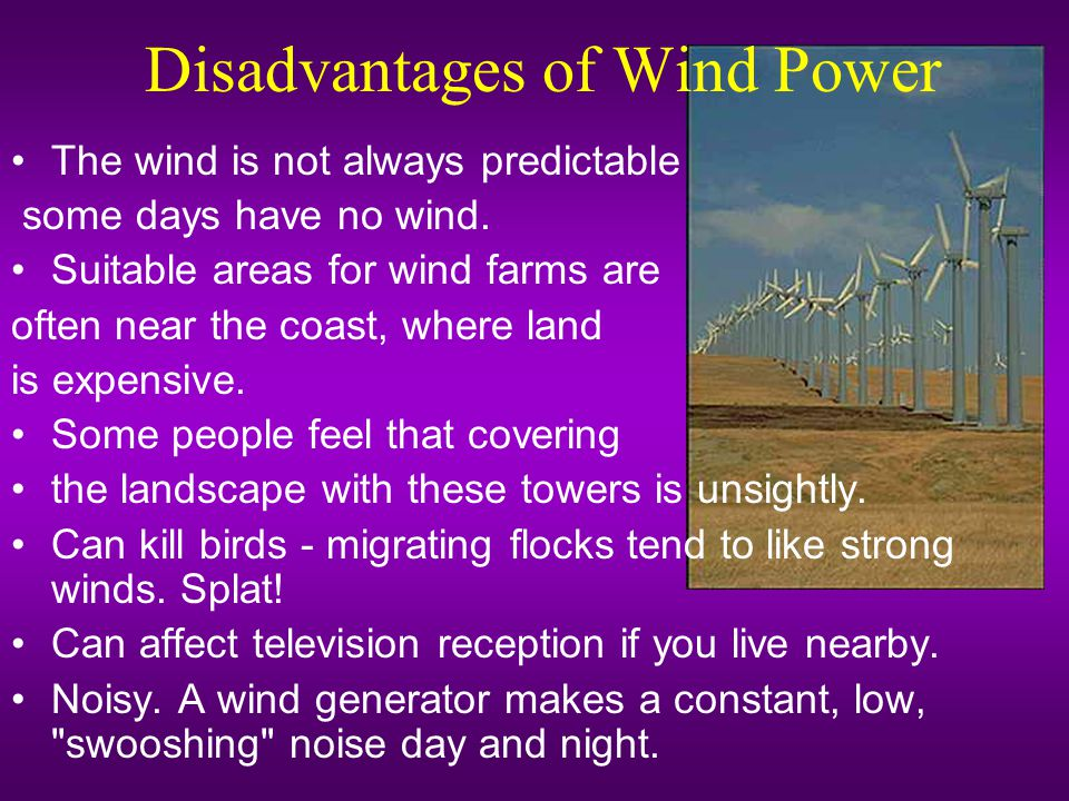 Disadvantages of Wind Power