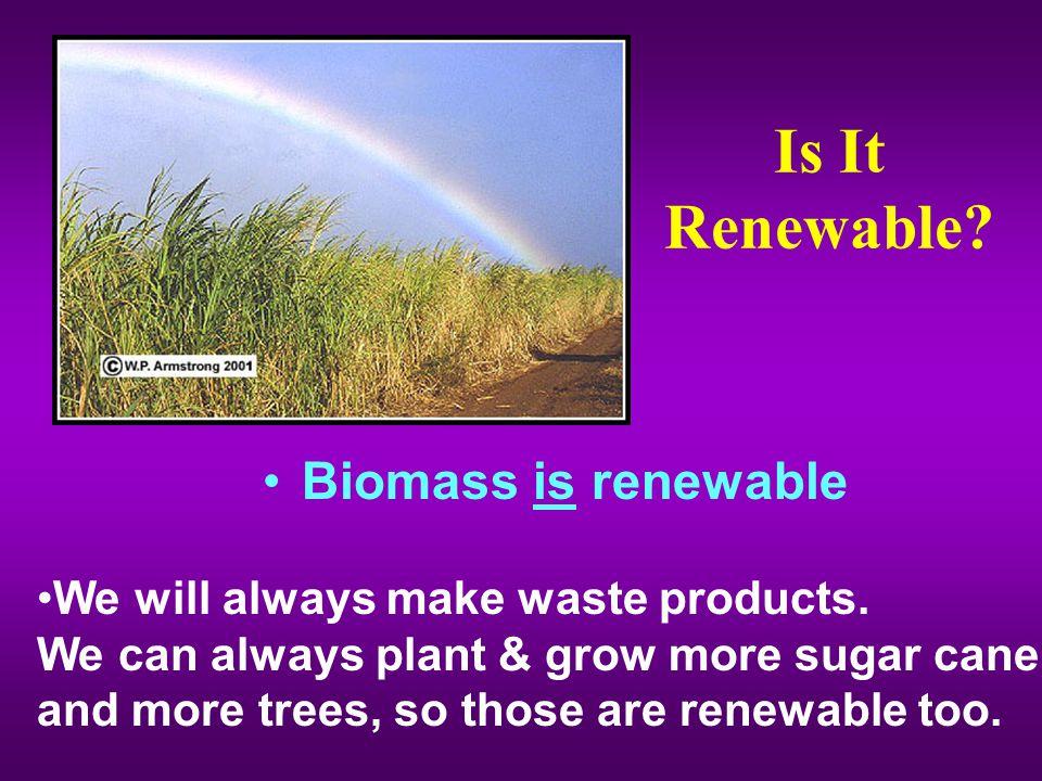 Is It Renewable Biomass is renewable