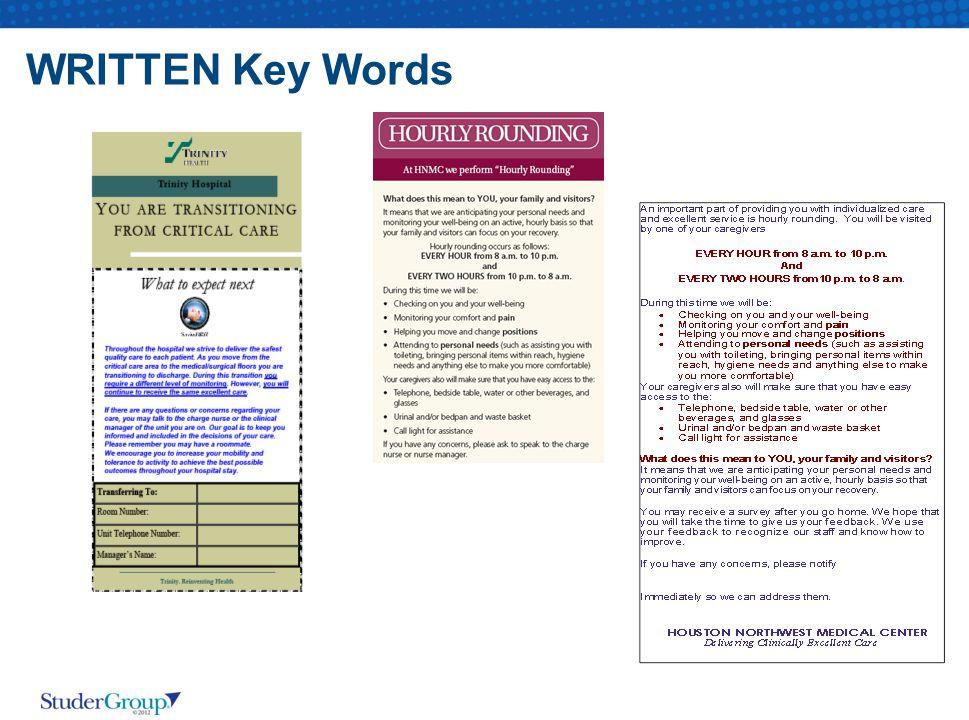 WRITTEN Key Words