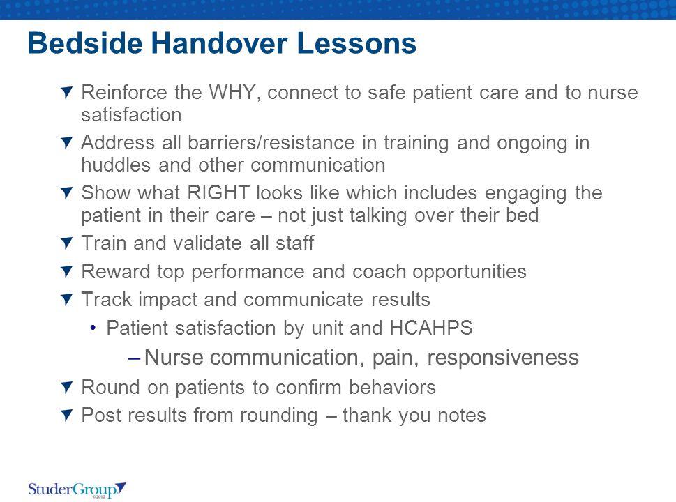 Bedside Handover Lessons
