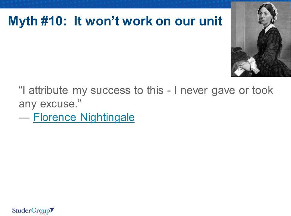 Myth #10: It won't work on our unit