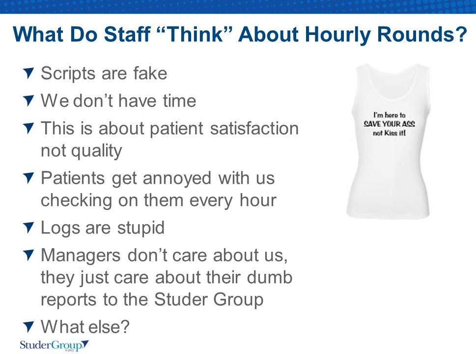 What Do Staff Think About Hourly Rounds