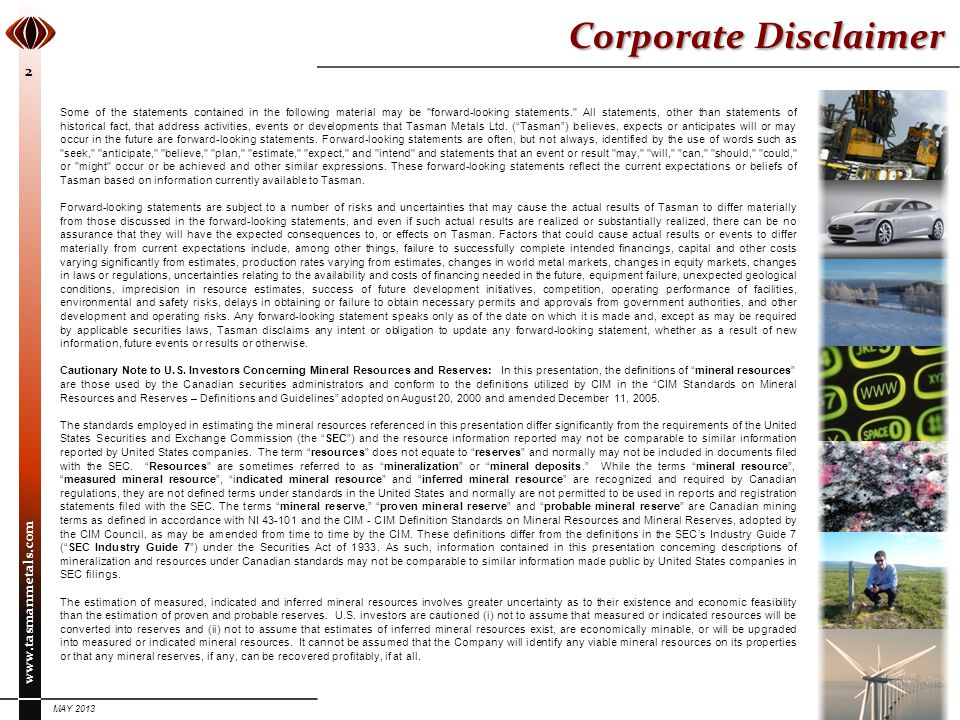 Corporate Disclaimer
