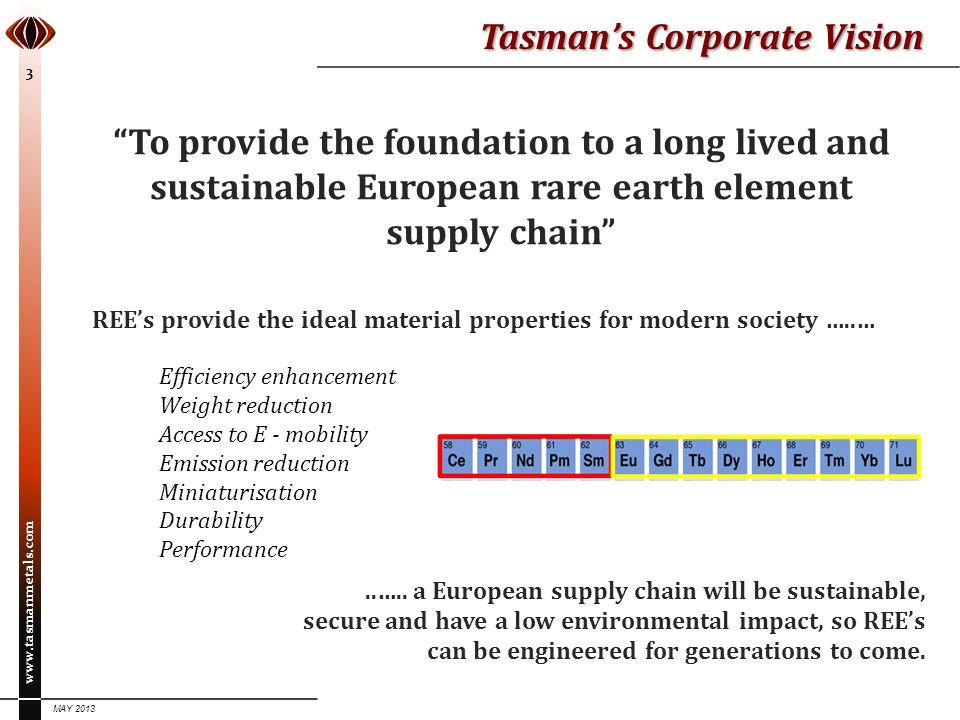 Tasman's Corporate Vision