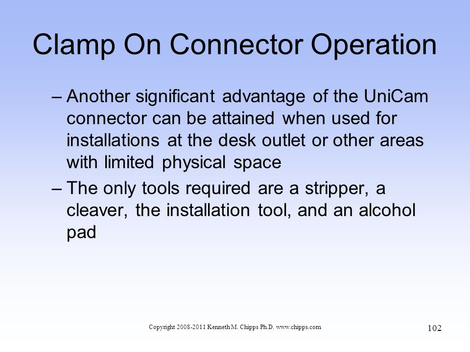 Clamp On Connector Operation