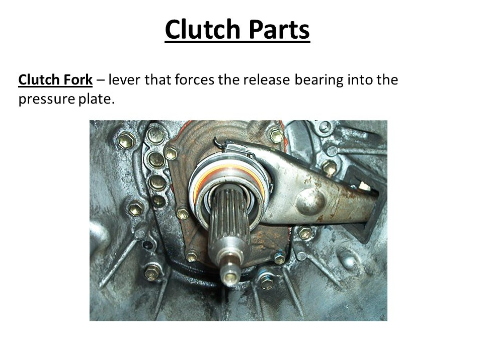 Clutch Parts Clutch Fork – lever that forces the release bearing into the pressure plate.