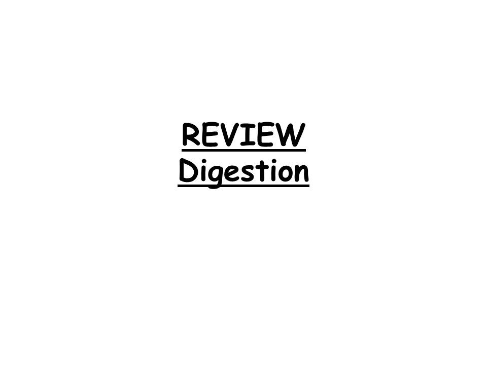 REVIEW Digestion