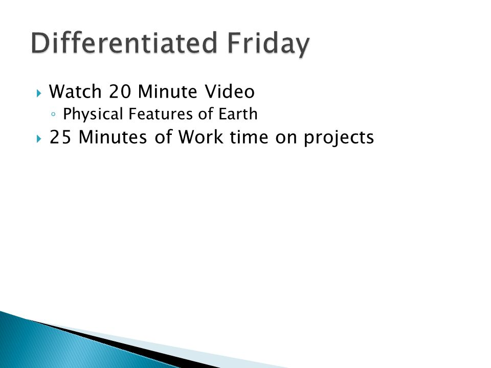 Differentiated Friday