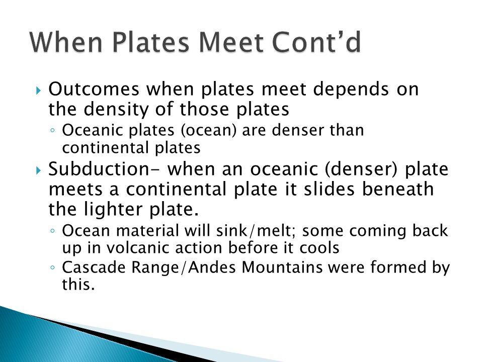 When Plates Meet Cont'd