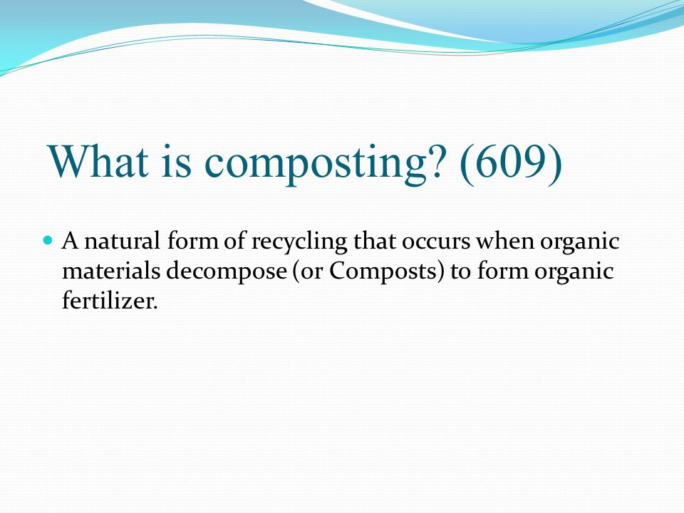 What is composting.