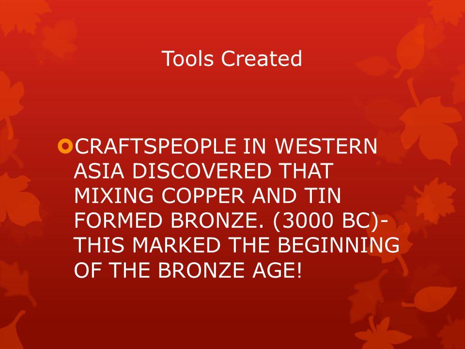 Tools Created