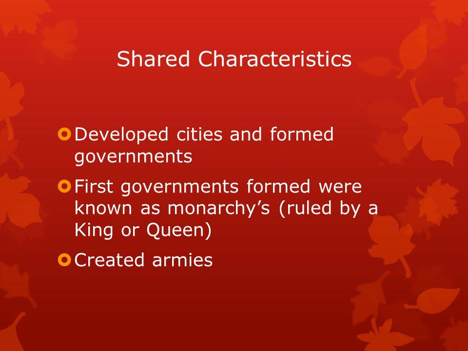 Shared Characteristics