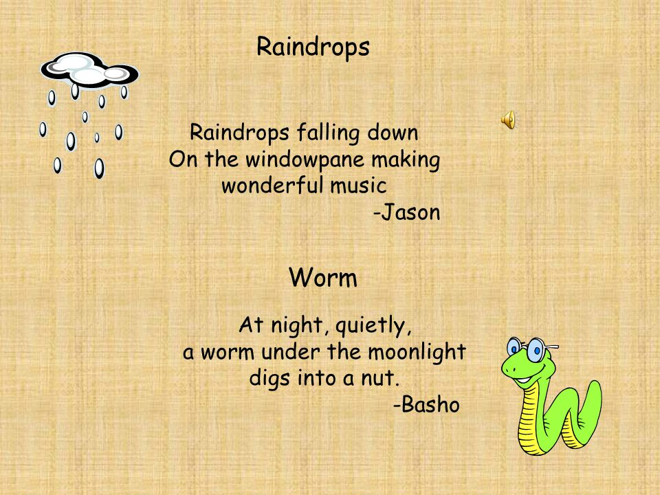 Raindrops Worm Raindrops falling down On the windowpane making
