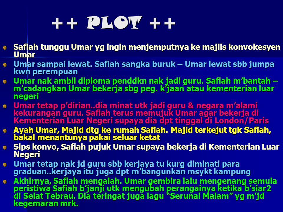 ++ PLOT ++ Safiah tunggu Umar yg ingin menjemputnya ke majlis konvokesyen Umar.