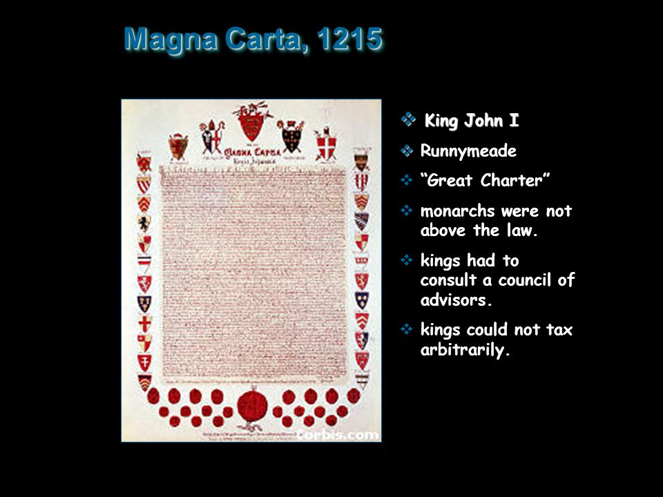 Magna Carta, 1215 King John I Runnymeade Great Charter