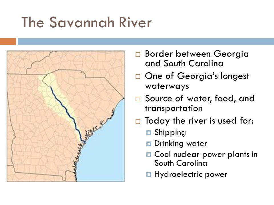 The Savannah River Border between Georgia and South Carolina