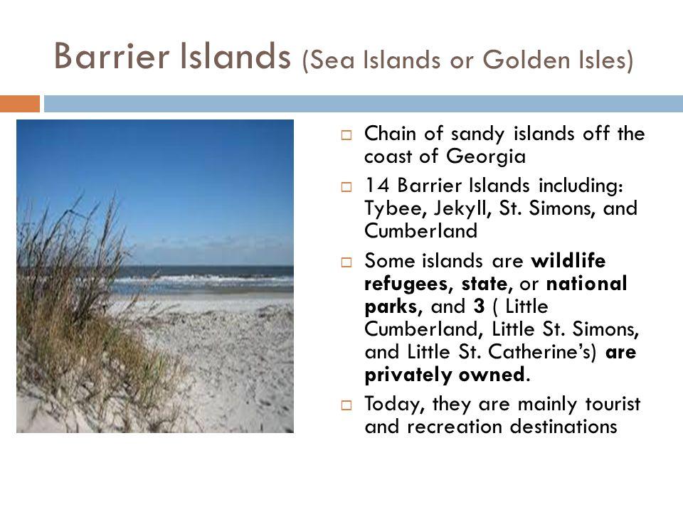 Barrier Islands (Sea Islands or Golden Isles)