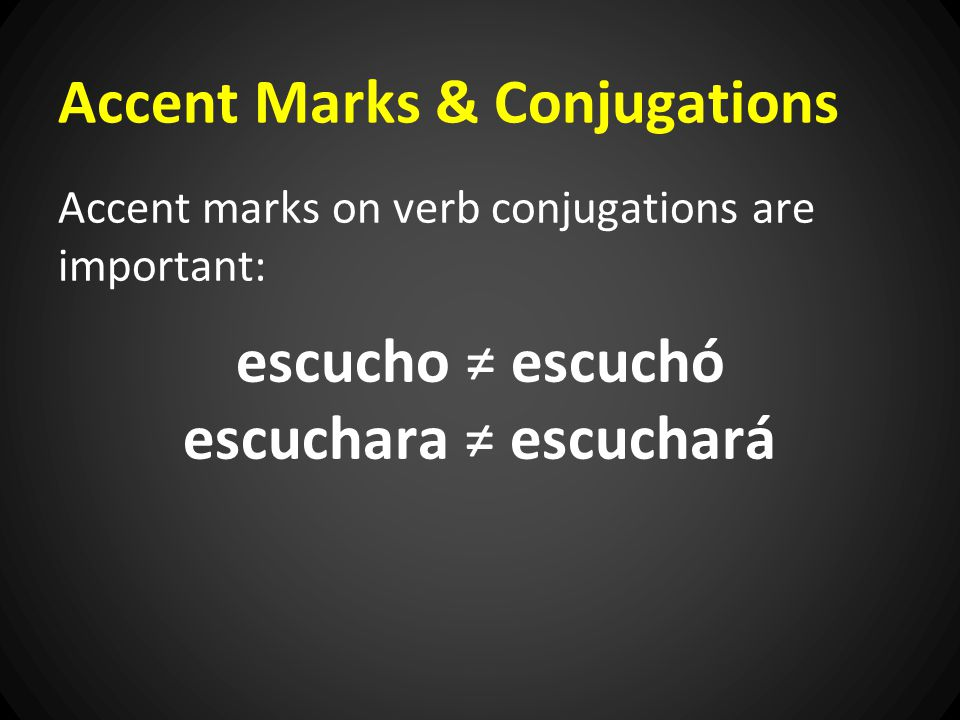 Accent Marks & Conjugations