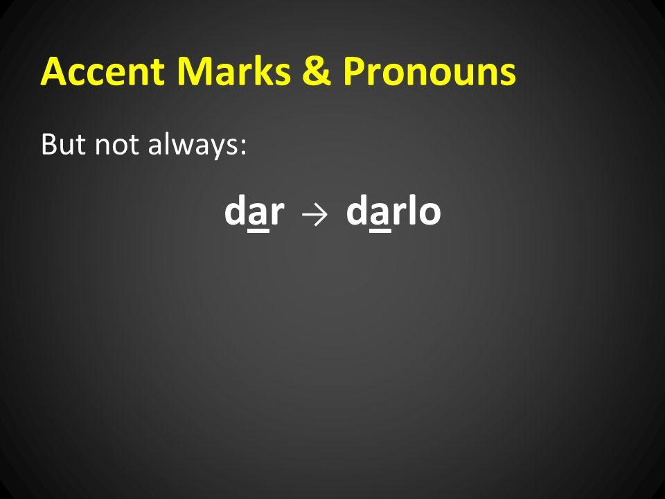 Accent Marks & Pronouns