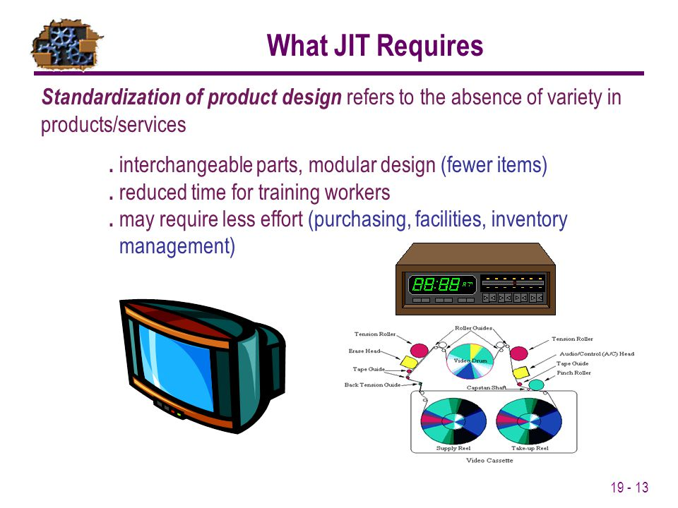What JIT Requires Standardization of product design refers to the absence of variety in products/services.