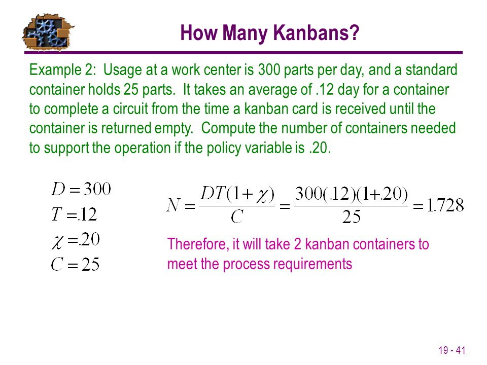 How Many Kanbans