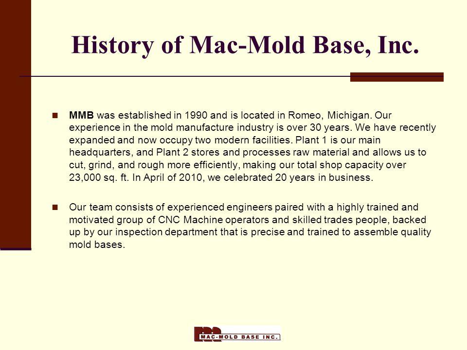 History of Mac-Mold Base, Inc.