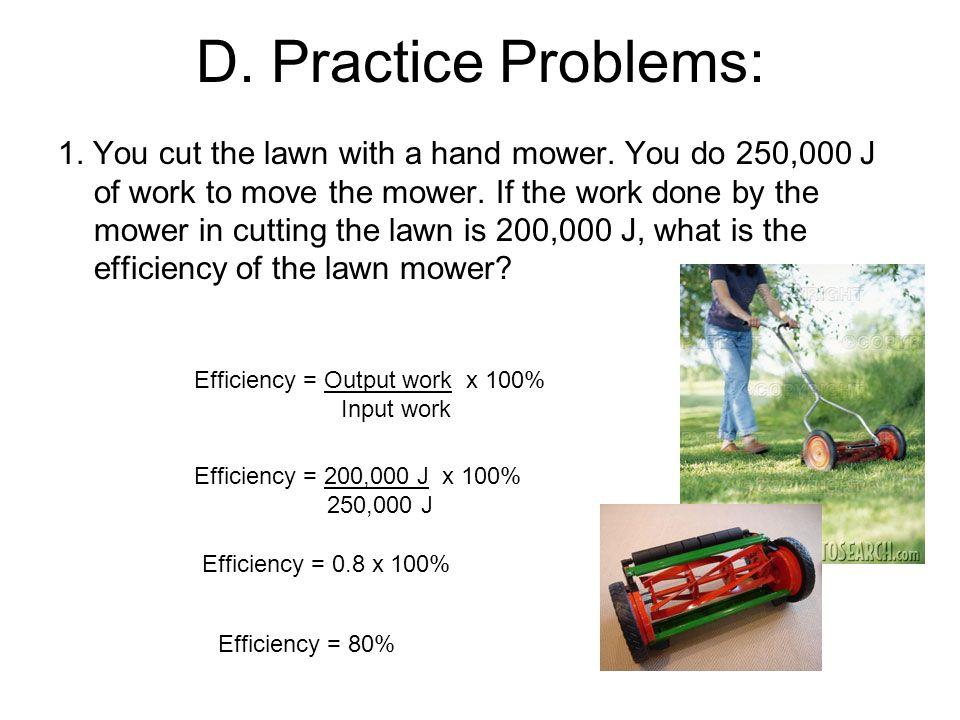 D. Practice Problems: