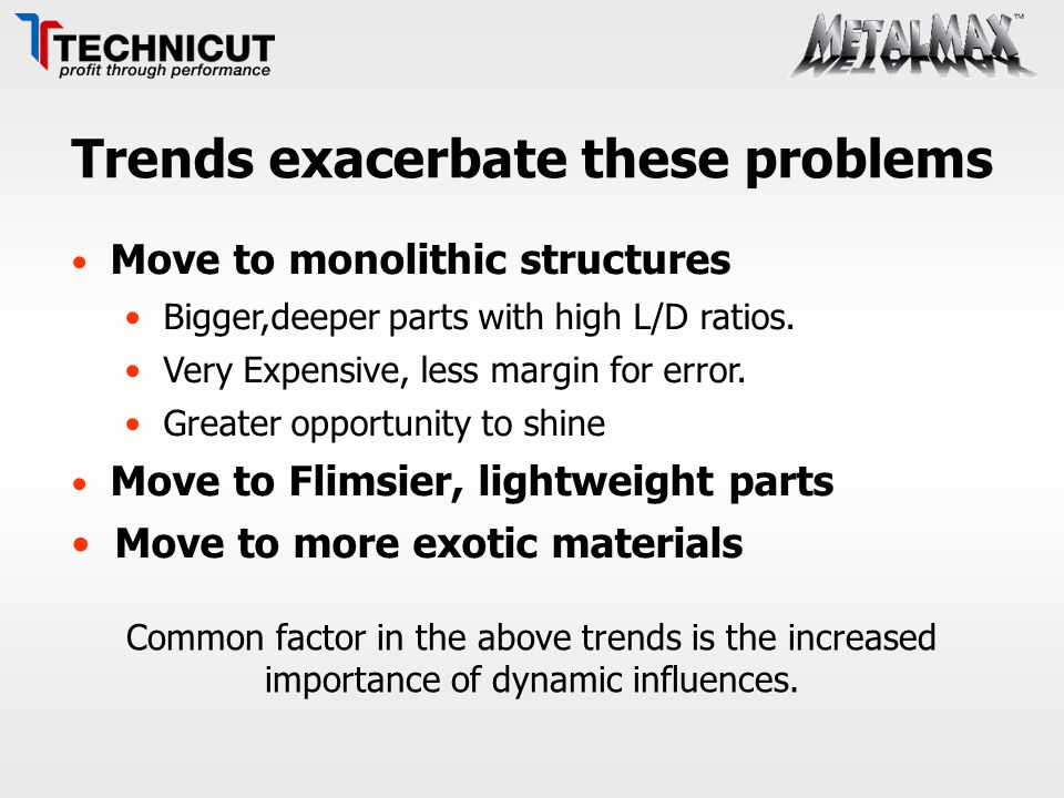 Trends exacerbate these problems