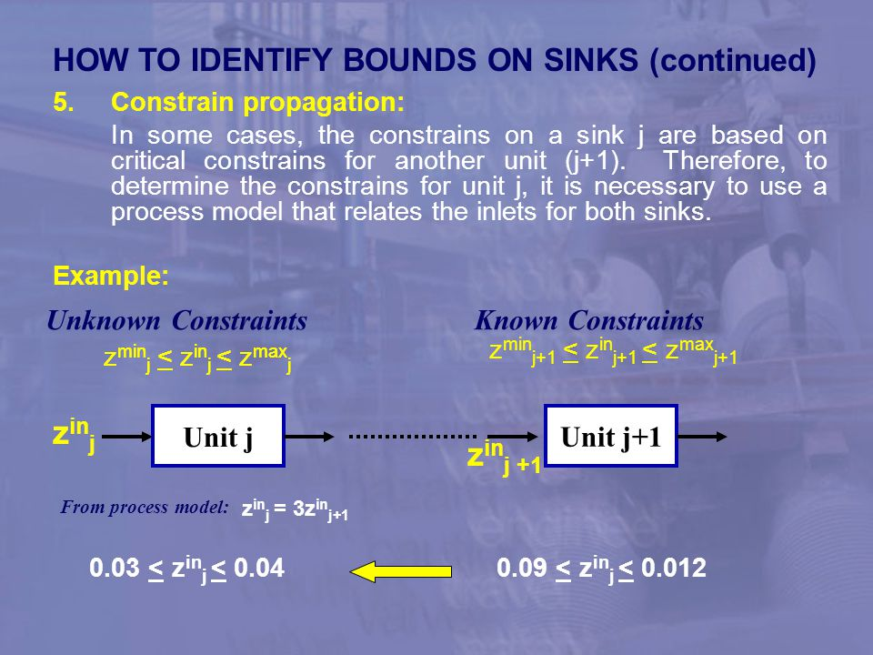zinj zinj +1 HOW TO IDENTIFY BOUNDS ON SINKS (continued)