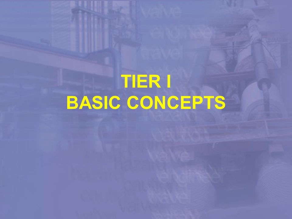 TIER I BASIC CONCEPTS