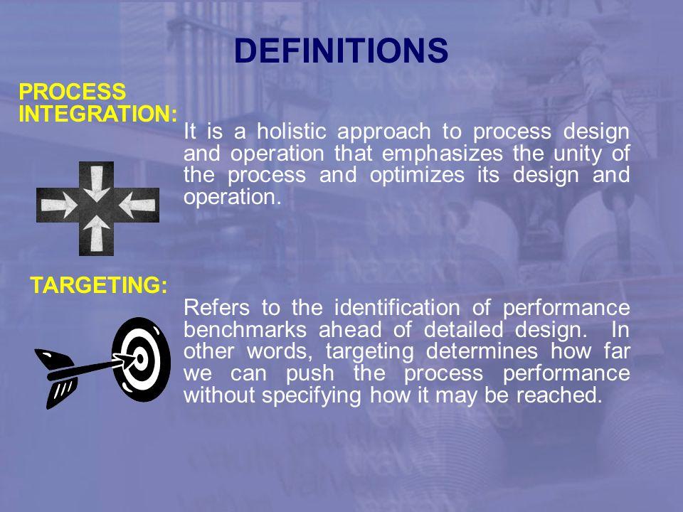 DEFINITIONS PROCESS INTEGRATION:
