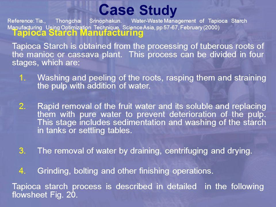 Case Study Tapioca Starch Manufacturing