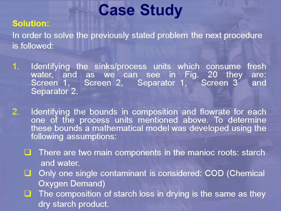 Case Study Solution: In order to solve the previously stated problem the next procedure. is followed: