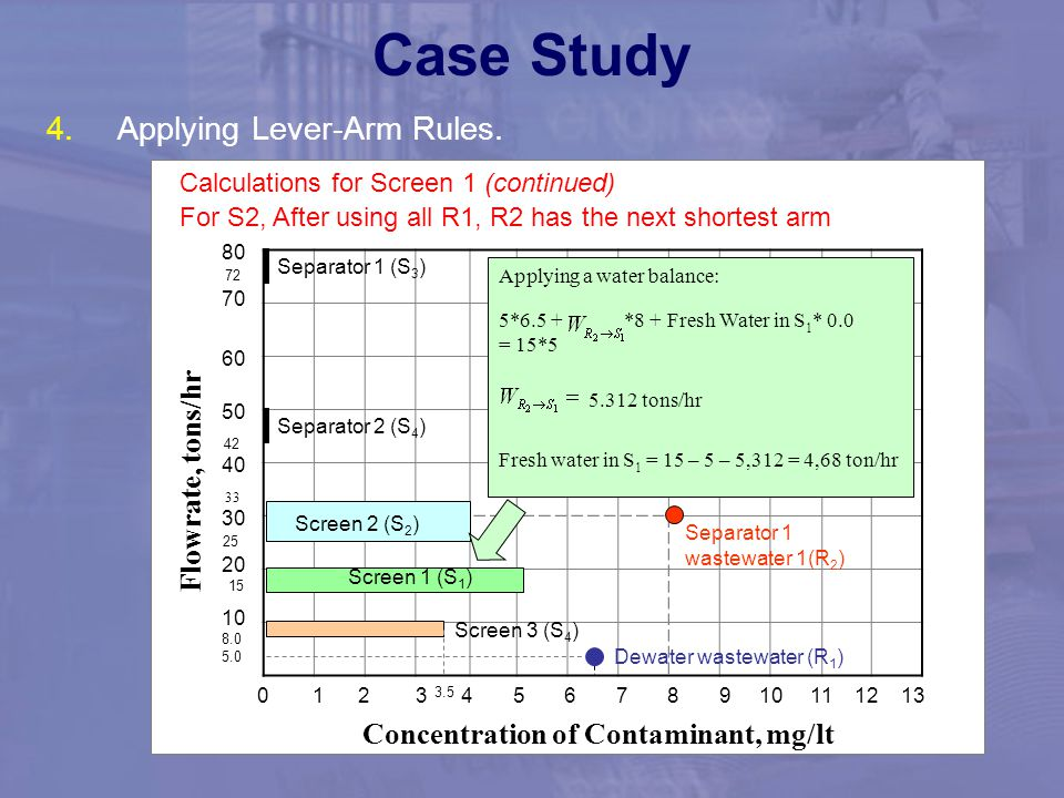 Case Study Applying Lever-Arm Rules. Flowrate, tons/hr