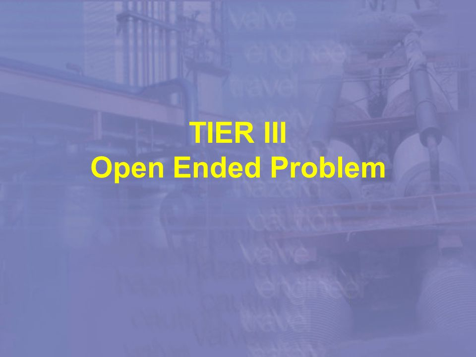 Case Study TIER III Open Ended Problem