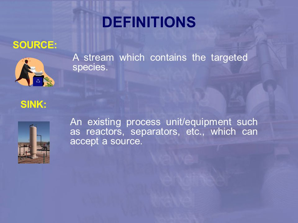 DEFINITIONS SOURCE: A stream which contains the targeted species.