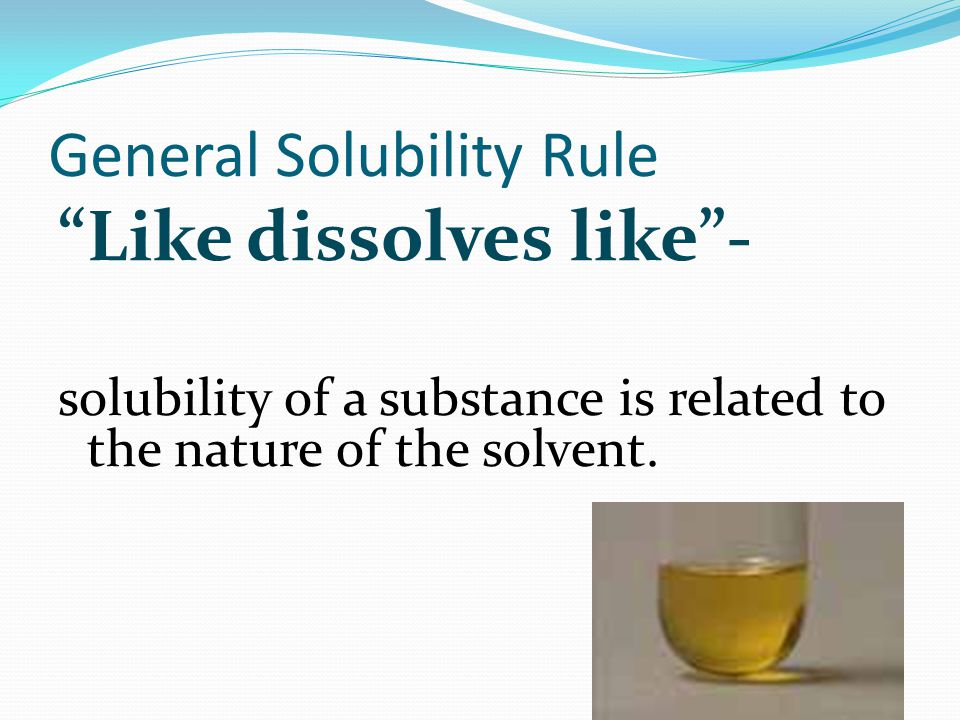General Solubility Rule