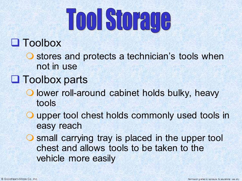Tool Storage Toolbox Toolbox parts