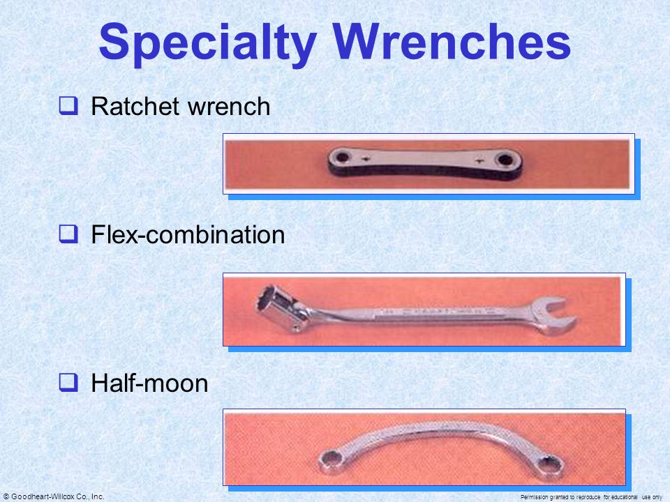Specialty Wrenches Ratchet wrench Flex-combination Half-moon