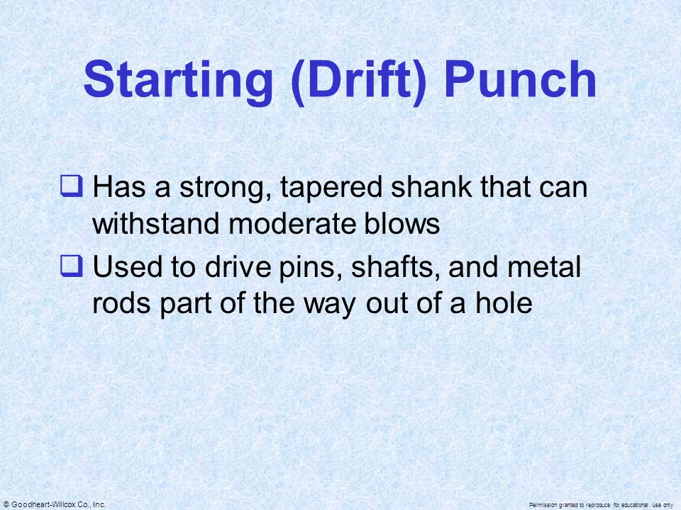 Starting (Drift) Punch
